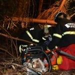 Delovna nesreča v gozdu - nenapovedana vaja